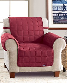 Sure Fit Soft Faux-Suede Waterproof Pet Chair Slipcover Throw
