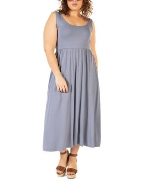 Plus Size Banded-Waist Knit Midi Dress