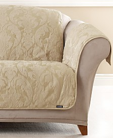 Sure Fit Matele Damask Pet Slipcover Throw Collection