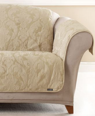 Captivating Sure Fit Matelasse Damask Pet Slipcover Throw Collection