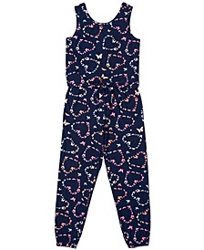 Big Girls Sleeveless All Over Print Jumpsuit
