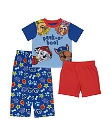 Toddler Boys 3 Piece Pajama Set