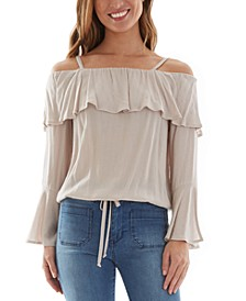 Juniors' Cold-Shoulder Top