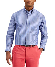 Men's Classic-Fit Pinstripe Dress Shirt, Created for Macy's