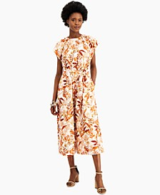 INC Cotton Floral-Print Jumpsuit, Created for Macy's