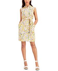 Printed Sleeveless Cotton Dress
