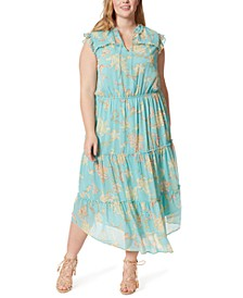 Trendy Plus Size Katie Printed Ruffle Dress