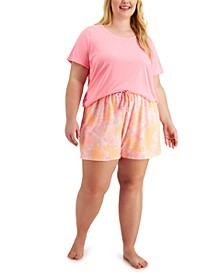 Plus Size Sleep T-Shirt & Shorts, Created for Macy's