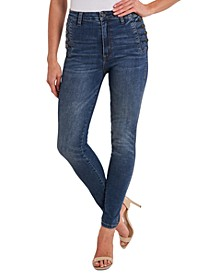 Straight-Leg Jeans With Side Buttons