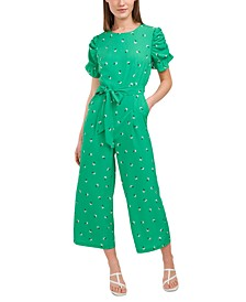 Adalynn Printed Belted Jumpsuit, Created for Macy's