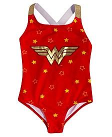 Wonder Woman Little  Girls 1 Piece Swimsuit