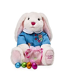 Easter Bunny with Foil-Wrapped Eggs