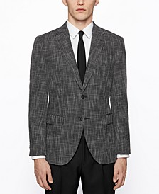BOSS Men's Micro-Patterned Regular-Fit Jacket