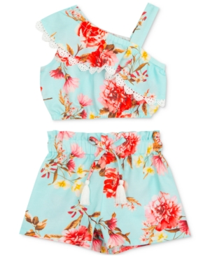 Rare Editions Sets BABY GIRLS 2-PC. TROPICAL FLORAL TOP & SHORTS SET