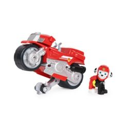 Paw Patrol, Moto Pups Marshalls Deluxe Pull Back Motorcycle Vehicle with Wheelie Feature and Figure