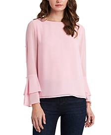 Tiered Chiffon Top