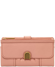 Cora Leather Clutch Wallet