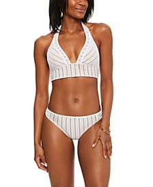 Crochet Long-Line Bikini Top & Bottoms, Created for Macy's