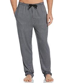 Men's Gingham Check Knit Pajama Pants