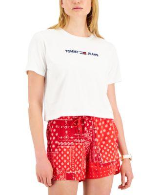 Cotton Linear Logo T-Shirt
