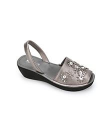 Women's Fine Glass Jewel Platform Sandal