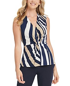 Striped Twisted Top