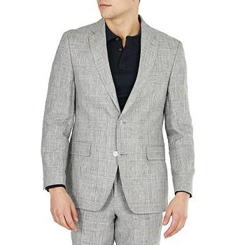 Tommy Hilfiger Mens Modern Fit Linen Suit Separate Jackets