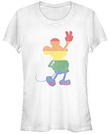 Juniors Disney Mickey Classic Pride Mickey Cowl Neck T-shirt