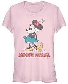 Juniors Disney Mickey Classic Vintage Minnie Cowl Neck T-shirt