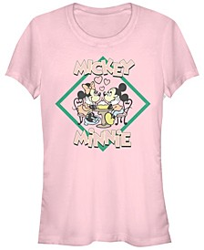 Juniors Disney Mickey Classic Minnie Mickey Cowl Neck T-shirt