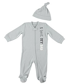 Baby Boys I Love My Dad 2-Piece Coverall Set