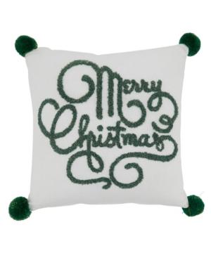 """Saro Lifestyle Pillows MERRY CHRISTMAS DESIGN PILLOW COVER, 12"""" X 12"""""""