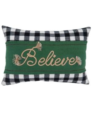 """Saro Lifestyle Pillows BUFFALO PLAID THROW PILLOW, 18"""" X 12"""""""