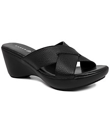 Petraa Crossband Casual Wedge Sandals, Created for Macy's
