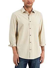 Men's Stretch Linen Woven Shirt, Created for Macy's