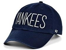 Women's New York Yankees Shimmer Text Cap