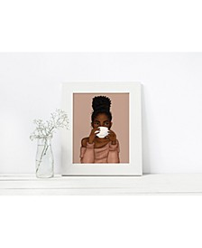 Locs and Lattes Art Print