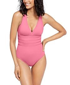 Island Goddess Tummy-Control Strappy One-Piece Swimsuit