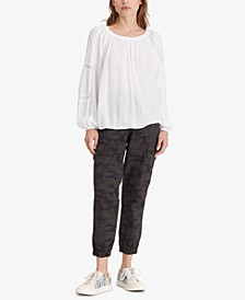 Say So Lace-Inset Blouse