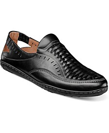 Men's Ibiza Woven Vamp Mocassin Toe Slip On Shoe