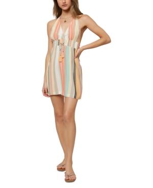 O'neill Juniors' Madisen Striped Mini Dress In Multi