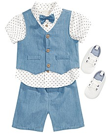 Baby Boys Shirt, Shorts, Vest & Shoes Separates, Created for Macy's