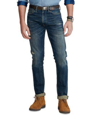 폴로 랄프로렌 Polo Ralph Lauren Mens Varick Slim Straight Jeans,Wilkes