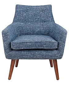 Avron Button Tufted Tweed Chair