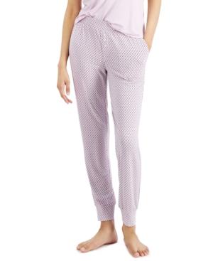 Alfani Pajamas PRINTED ESSENTIAL JOGGER PAJAMA PANTS, CREATED FOR MACY'S