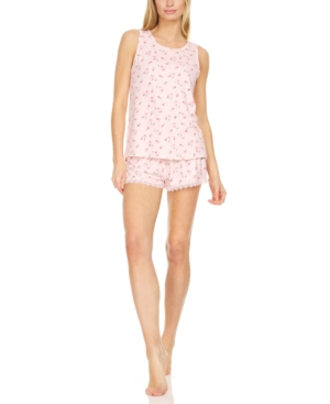 Floral by Floral Nikrooz Floral-Print Tank Top & Shorts Pajama Set