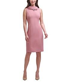 Double Collar Sleeveless Sheath Dress