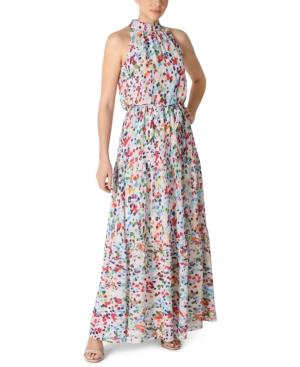 Mock-Neck Maxi Dress