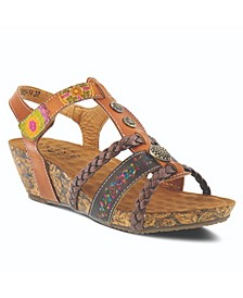 L'Artiste Women's Acateia T-Strap Sandals