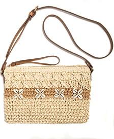 Tropical Straw Crossbody, Created for Macy's